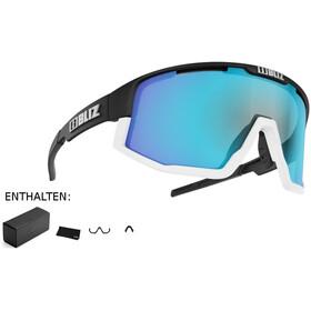 Bliz Fusion M12 Glasses black/white/smoke with blue multi